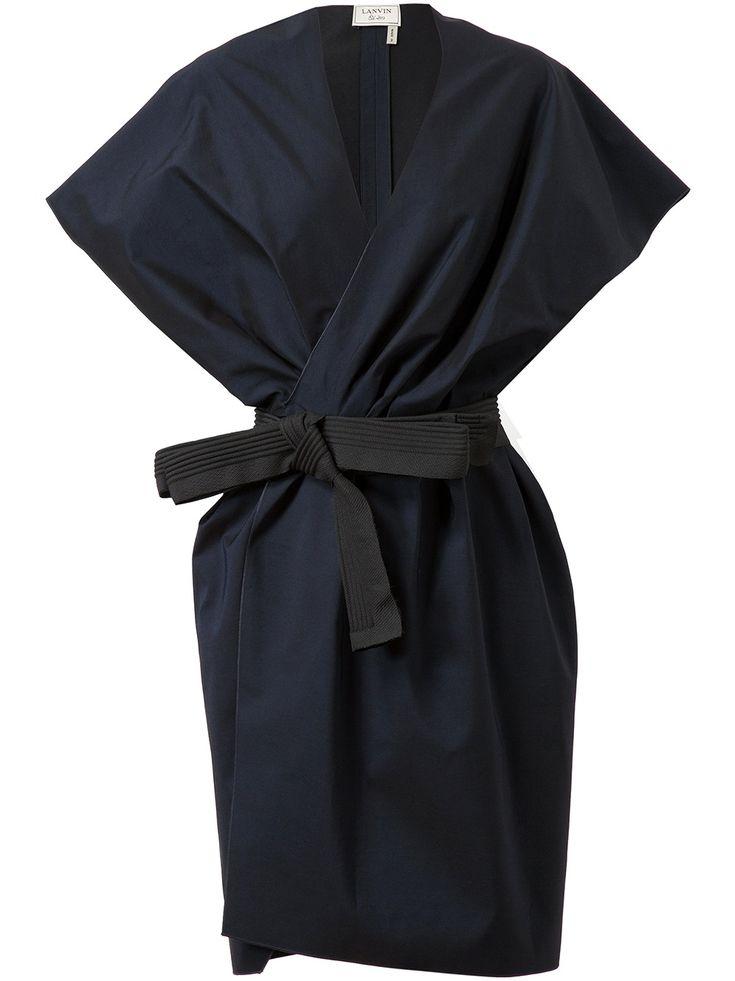 Lanvin Belted Cotton-silk Jacket Dress