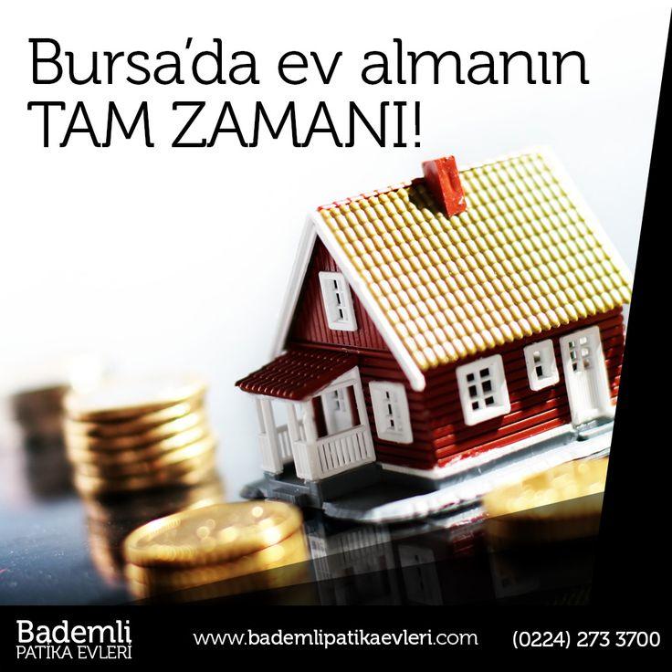 Bursa'da ev almanın tam zamanı!   #bursa #bademli #ev #villa #müstakil #daire #yatırım #hayat #fırsat #yaşam #site  Bademli Mah. Eski Mudanya Cad. No:175 Mudanya / BURSA  www.bademlipatikaevleri.com // (0224) 273 3700