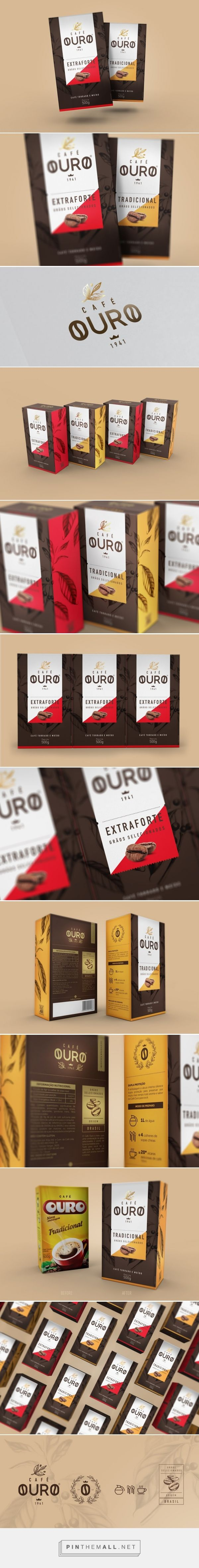 Café Ouro  -  Packaging of the World - Creative Package Design Gallery - http://www.packagingoftheworld.com/2016/05/cafe-ouro.html