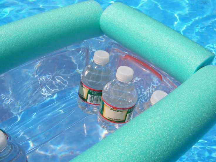 Pool Noodle Floating Cooler DIY   Hello Nature
