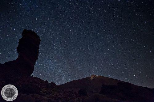 Starry night over Mt Teide, Tenerife