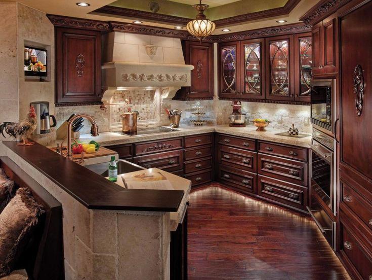 Natural Walnut Kitchen Island In Summit New Jersey: 25+ Best Ideas About Cherry Kitchen Cabinets On Pinterest