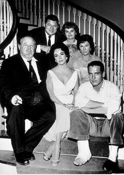 Burl Ives, Elizabeth Taylor, Paul Newman, Jack Carson, Madeleine Sherwood, Judith Anderson. - Cat On A Hot Tin Roof  1958