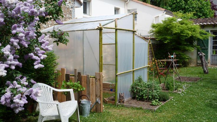 Comment r aliser une serre en bambous instructions de for Serre de jardin adossee au mur