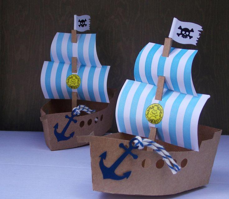Navio tema Jake e os Piratas, em papel 200g.