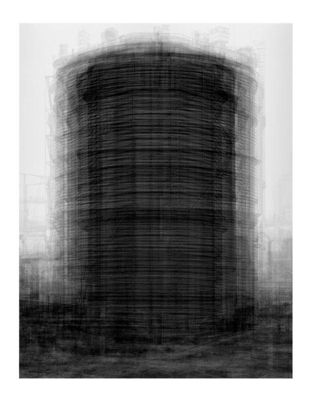 Idris Khan. Every...Bernd And Hilla Becher Prison Type Gasholders/ Cada… Cárcel Tipo Gasómetros de Bernd y Hilla Becher 2004 Photographic print 208 x 160 cm