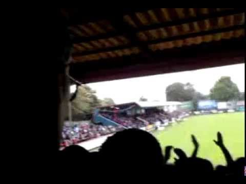 AFC Wimbledon fans at Aldershot- I just can't get enough. Tune.