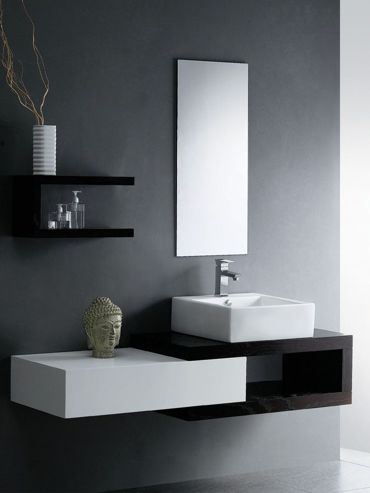 Great shapes.  Might need some more texture for my taste though (e.g. marble/concrete sink; frame on the mirror)