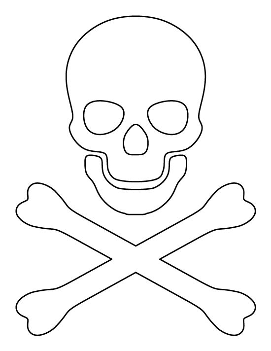 Crossbones pattern. Use the printable outline for crafts