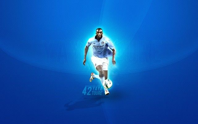 Yaya Toure Manchester City Wallpaper HD Background