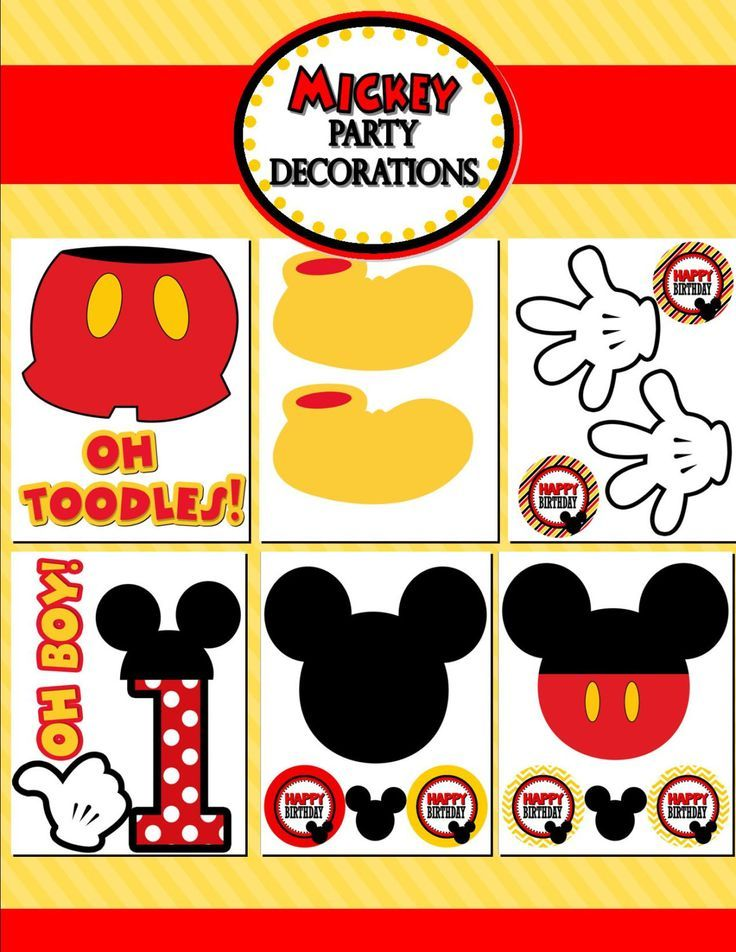 22 best images about decoracion de cumplea os mickey mouse on pinterest. Black Bedroom Furniture Sets. Home Design Ideas