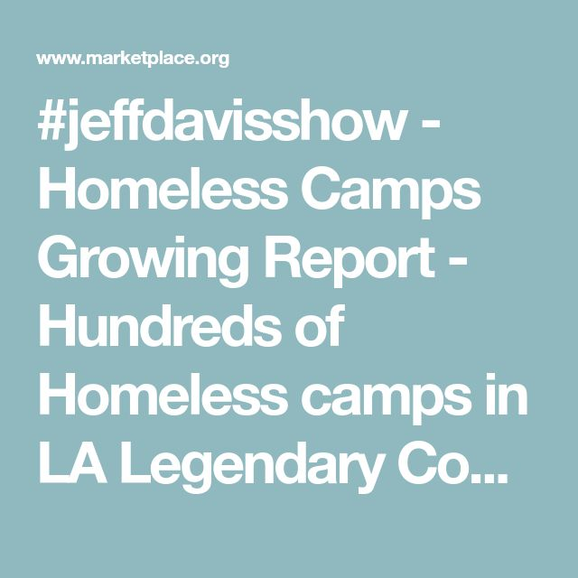 "#jeffdavisshow  - Homeless Camps Growing  Report  -  Hundreds of Homeless camps in LA  Legendary Commentary  - While the ""Fake"" Left vs Right, Republican vs Democrat Paradigm  Adds confusion about America's  Growing homeless population  blame Falsehoods ie lazy people, not enough money for public housing, The Hidden ""Real"" Culprit is the Devaluing  Fed Bank paper money itself  ..  Since 1913, Federal Reserve notes value has Declined 90 %  There are reasons why a gallon of gas in 1970 was 50…"