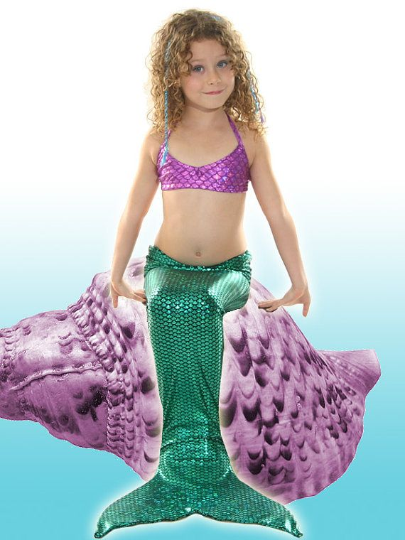 Swimmable  Ariel Mermaid Tail with Monofin/Add Bikini!