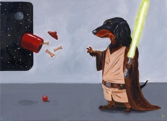Hey, I found this really awesome Etsy listing at http://www.etsy.com/listing/62049903/dachshund-jedi-dog-art-print