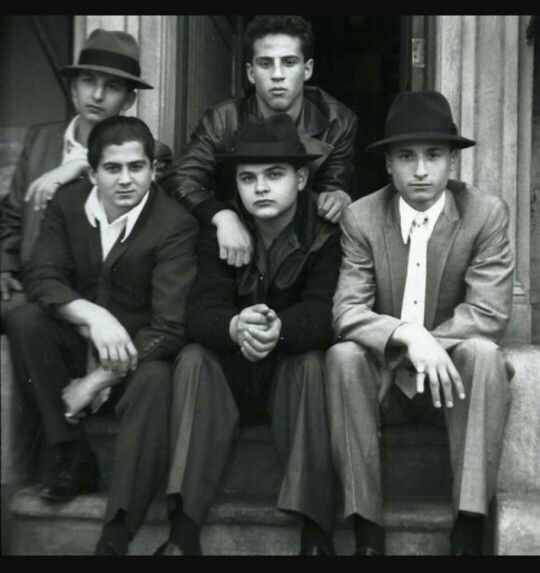"A Bronx Tale movie. The boys from the ""Deuces Wild Social Club""."