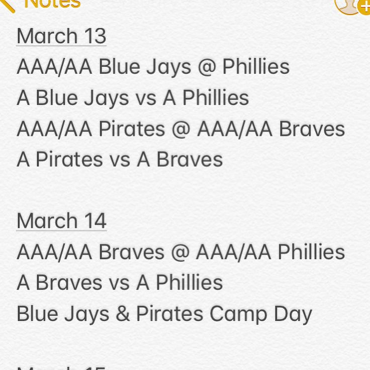 Minor league spring training schedule for the Tampa Area.  #springtraining #minorleaguespringtraining #grapefruitleague #phillies #pirates #yankees #bluejays #tigers #braves