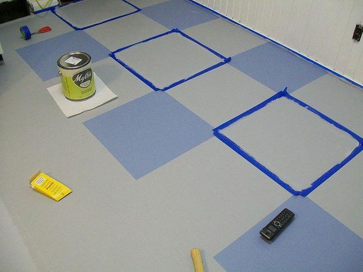 Painted Vinyl Floor update