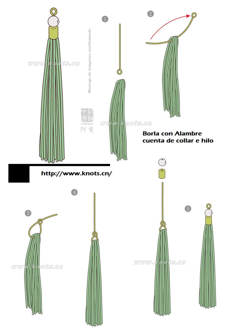 How to make tassels for Decorating... #3
