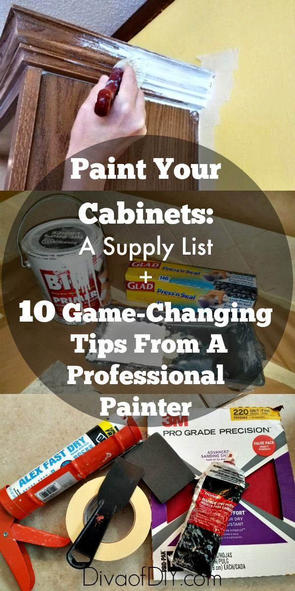 Having all of the supplies you need when you start a project is key to knocking the project out like a pro.  When painting cabinets, you will not only need supplies to properly prepare the surface before you paint but you will also need good quality tools to apply your finish coats.  The supplies don't have …