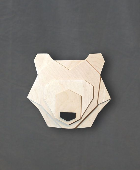 Geometric bear head di ValuShop su Etsy                                                                                                                                                                                 More