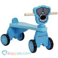 Vierwieler hout Woezel en Pip: blauw -  Koppen.com
