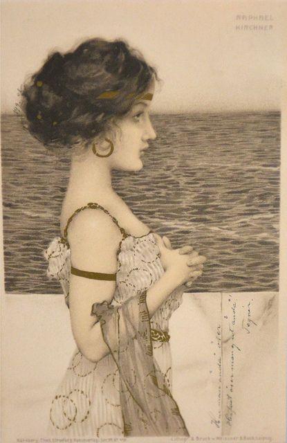 Art Nouveau Postcard ~ Raphael Kirchner