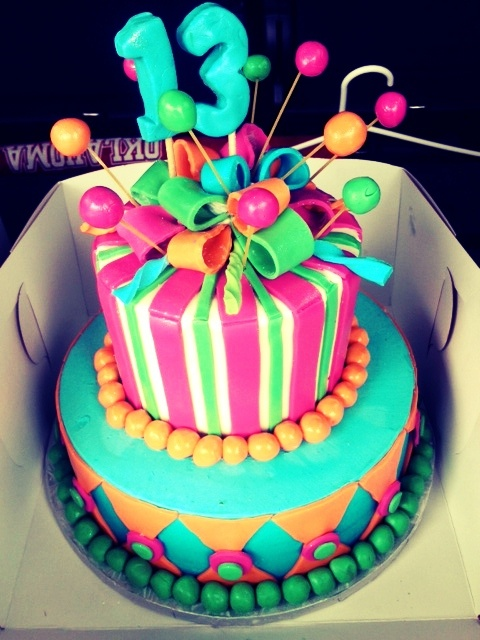 150 Best Cakes 13th Birthday Images On Pinterest About