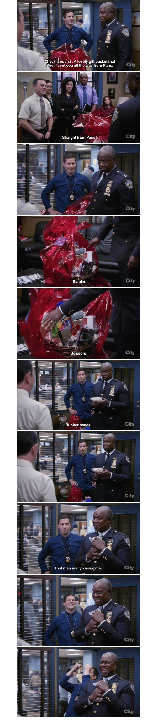 It's impossible to not like captain Captain Ray Holt...Captain Holt and Kevin are goals