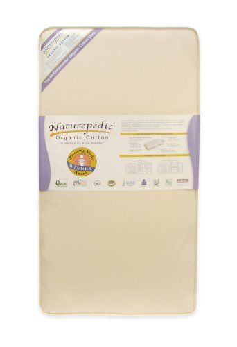 Naturepedic No Compromise Organic Cotton Ultra 252 Crib Mattress Premium Organic Cotton Waterproof Cover - Features a luxurious organic cotton fabric with an easy-to-clean food grade 100% polyethylene waterproof coating.  Polyethylene is used throughout the food packaging industry for its purity and non-toxic properties. 100% organic cotton to promote a healthy and more chemical-free sleeping envi... #Naturepedic #Baby_Product