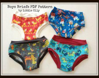 PDF Pattern Boys Underwear Briefs Size 2-7 by littleolly on Etsy
