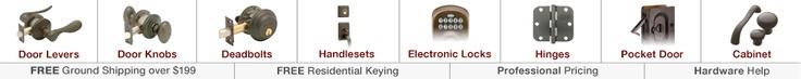 Door Hardware, Door Knobs, Locks & Cabinet Hardware - Handlesets.com