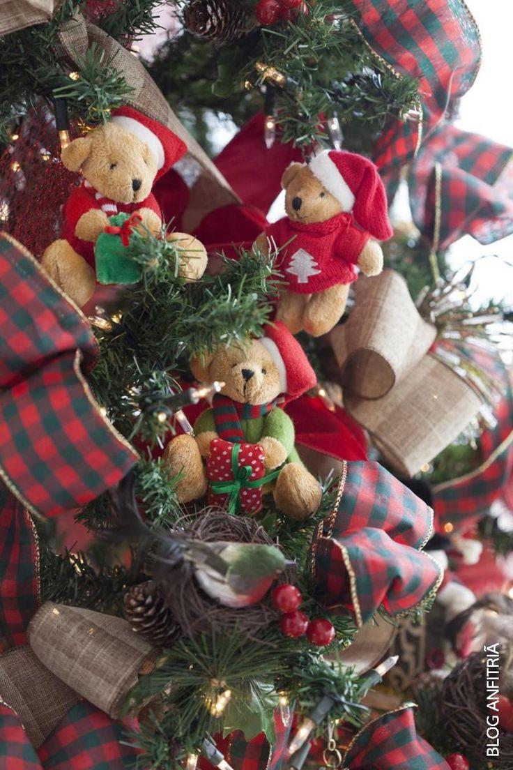 christmas tree, arvore de Natal, ursos, enfeites da arvore