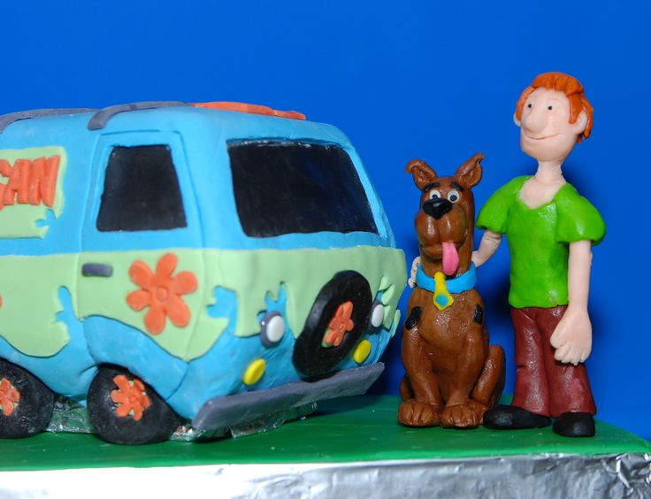 Scooby Doo Shaggy And The Mystery Machine Cake Figures Made With
