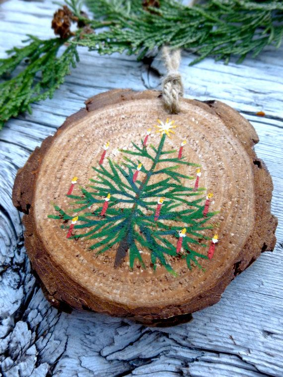 O' Christmas Tree: Rustic Tree Ornament by AliceCEades on Etsy
