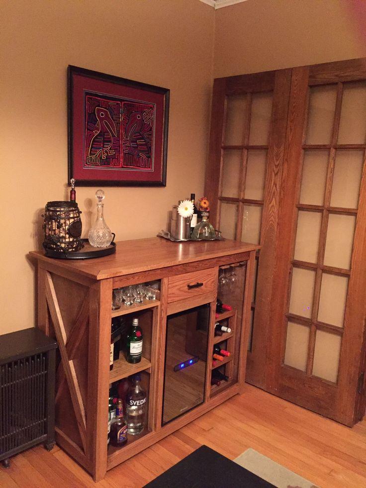 custom wine fridge bar diy