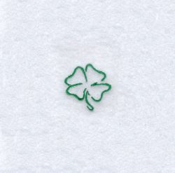 Four Leaf Clover Outline embroidery design