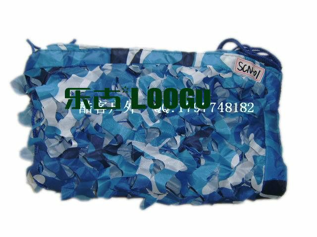 VILEAD 5M 16.5FT Wide Sea Blue Digital Camouflage Net Military Army Camo Netting Sun Shelter Shade Net for Hunting Camping Tent