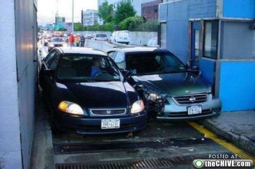 crazy car crashes 13 Car crashes that beg the question, how did they do that? (31 Photos)