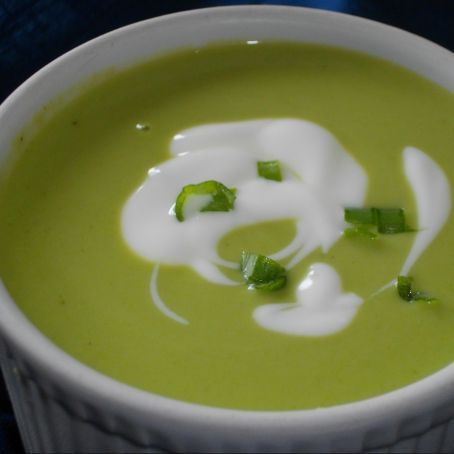 Green Leaf and Pea Soup