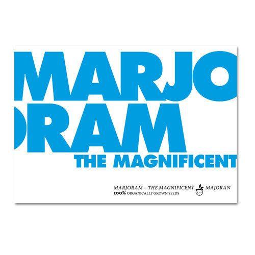 Bio-Saatgut 'marjoram the magnificent' - Majoran - S.W.W.S.W.