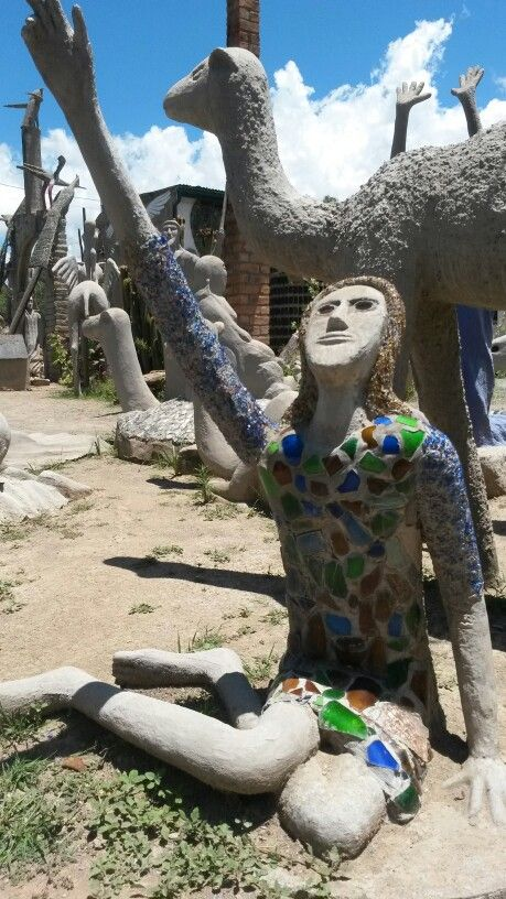 The owlhouse in Nieu Bethesda. Helen Martins is an extraordinary example of outsider art. Ostracised in her life time but now her legacy causes the entire village to prosper.