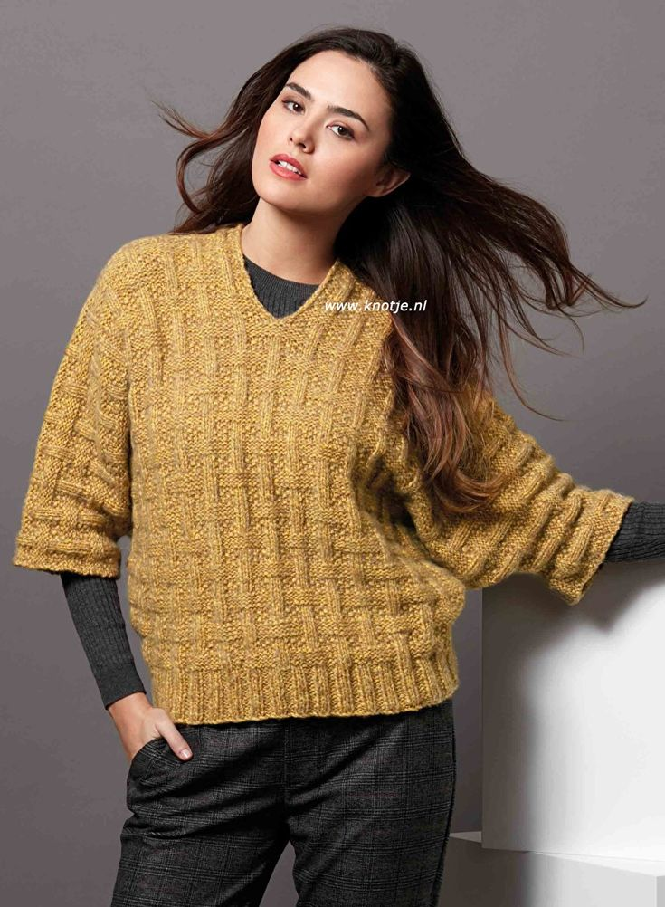 Knitting with Knotje.nl 16-10-2019. You can make this sweater with Katia Concept – Ultralight Merino. Very light extrafine merino wool with airy volume and …