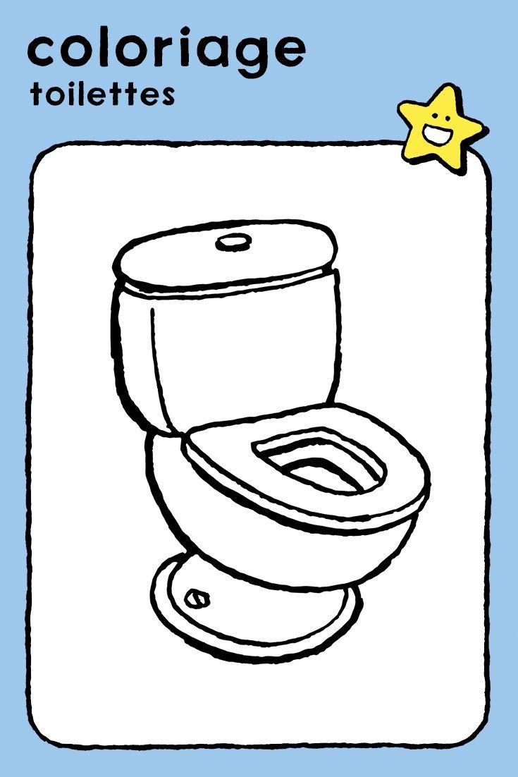 toilettes, coloriage, dessin, image à colorier, enfants, garçons