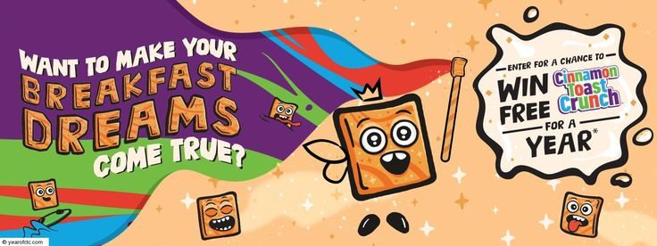 Cinnamon toast crunch for a year sweepstakes in 2020