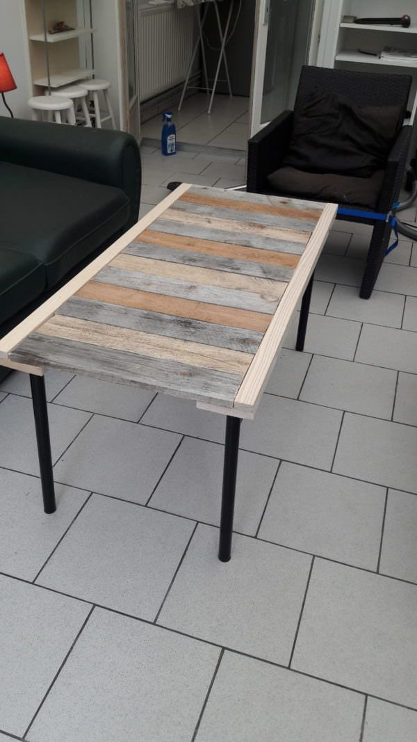 Table basse en palettes 2 pallets coffee table pallet ideas mesas pall - Construire table basse palette ...
