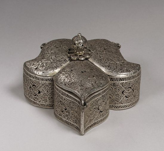 Indian decorative silver box