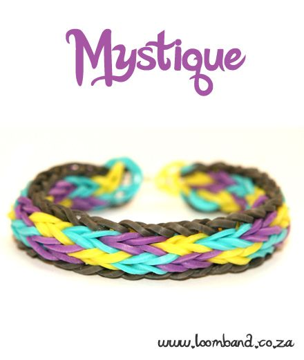 Mystique Loom Band Bracelet Tutorial, instructions and videos on hundreds of loom band designs. Shop online for all your looming supplies, delivery anywhere in SA.