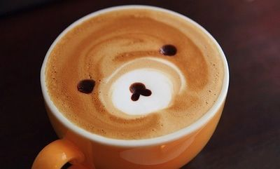 Cute coffee bear.