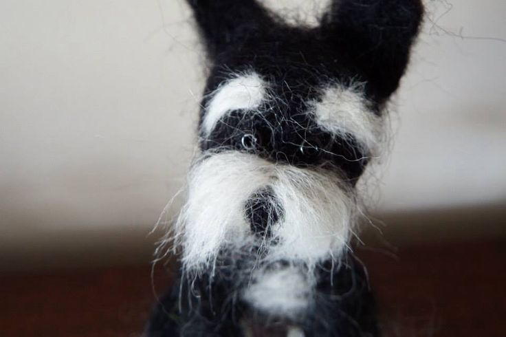 #Needle Felting; #Miniature Schnauzer; #dogs; #craft
