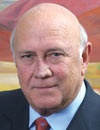 Speaker/Panelist: Frederik Willem de Klerk, 7th and last State President of apartheid-era South Africa